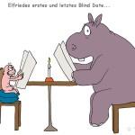 Blind Date zwischen Nacktmull und Nilpferd