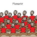 Flo als Kuscheltier auf dem Flomarkt
