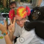Portrait mit Gorilla