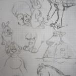 Verschiedene Comic Zeichnungen