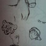 Pferd Tiger und weitere Zeichungen