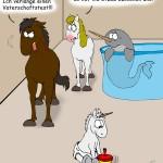 Pferd zweifelt Vaterschaft an Einhorn an