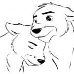 kuschelnde Wölfe