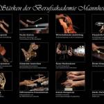 Kalender mit Instrumenten der Dualen Hochschule Mannheim