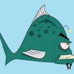 großer dunkler Fisch